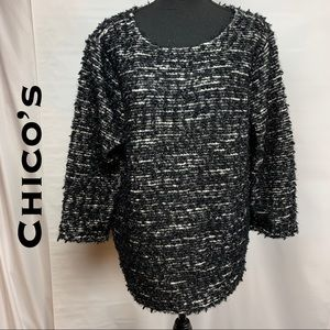 💎NWT💎 Chico's Textured 3/4 Sleeve Sweater
